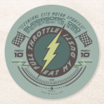 Supersonic Dad - Central City Motor Sports Round Paper Coaster