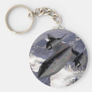 Supersonic Fighter Jet Basic Round Button Keychain