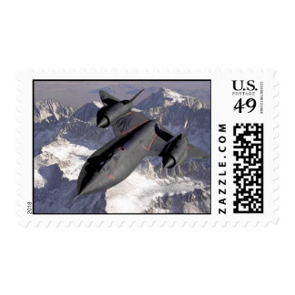 Supersonic Fighter Jet Postage Stamps