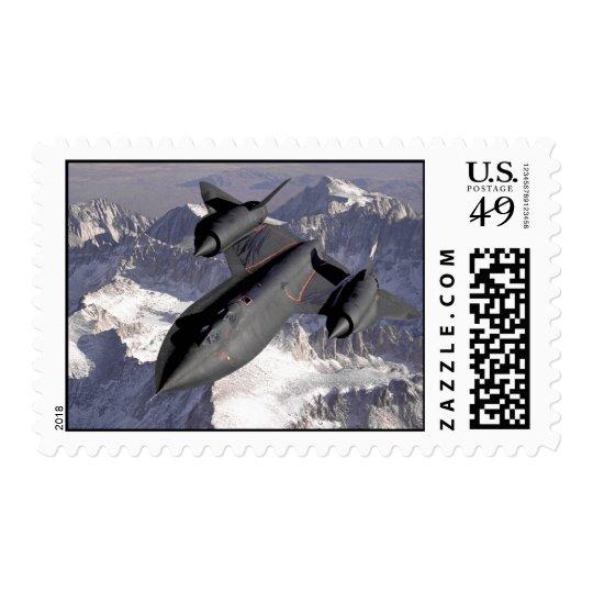 Supersonic Fighter Jet Postage Stamp