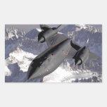 Supersonic Fighter Jet Rectangular Sticker