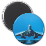 supersonic transport 2 inch round magnet