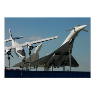 Supersound - jets, Concord and Tupolev, Sinsheim, Poster