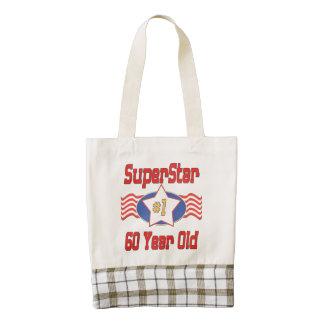 Superstar 60th Birthday Zazzle HEART Tote Bag