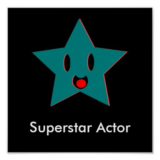 Superstar Actor Poster