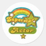 Superstar Actor Round Sticker