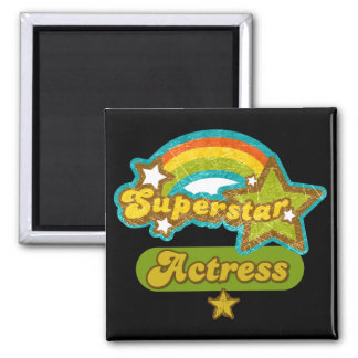 Superstar Actress 2 Inch Square Magnet