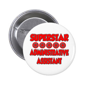 Superstar Administrative Assistant Pinback Button