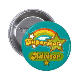 Superstar Advisor Pinback Button