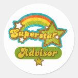 Superstar Advisor Round Sticker