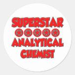 Superstar Analytical Chemist Round Sticker