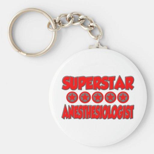 Superstar Anesthesiologist Basic Round Button Keychain