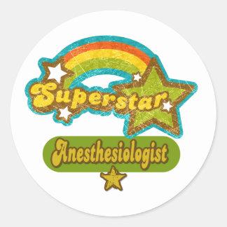 Superstar Anesthesiologist Classic Round Sticker