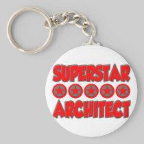 Superstar Architect Basic Round Button Keychain