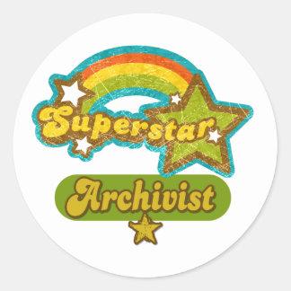 Superstar Archivist Classic Round Sticker