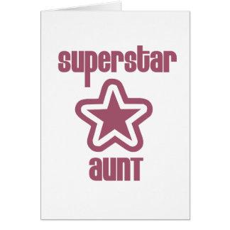 Superstar Aunt Card