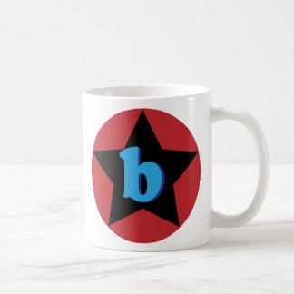 """superstar """"b"""" mug"""