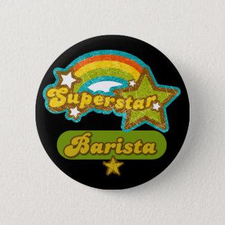 Superstar Barista Pinback Button