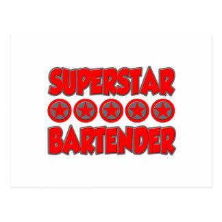 Superstar Bartender Postcard
