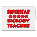 Superstar Biology Teacher Greeting Card