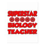 Superstar Biology Teacher Postcards
