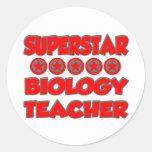 Superstar Biology Teacher Stickers