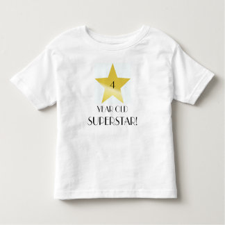 SUPERSTAR BIRTHDAY / AGE DESIGN TODDLER T-SHIRT
