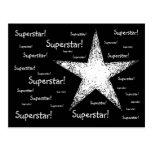 Superstar!   Black Postcard
