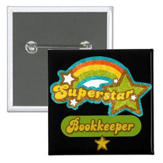 Superstar Bookkeeper Pinback Button