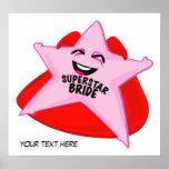 superstar bride humorous  poster!