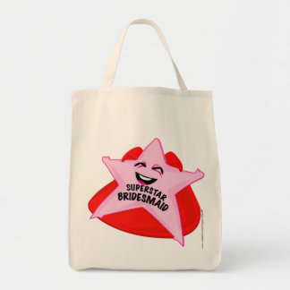 superstar bridesmaid humorous  bag! tote bag