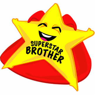 superstar brother funny photo  sculpture! standing photo sculpture