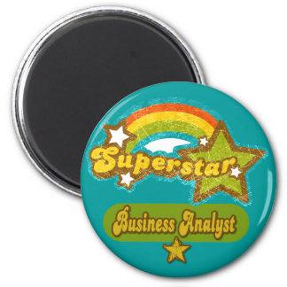 Superstar Business Analyst 2 Inch Round Magnet