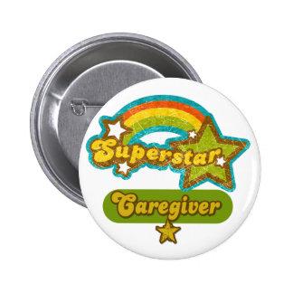 Superstar Caregiver Pinback Button