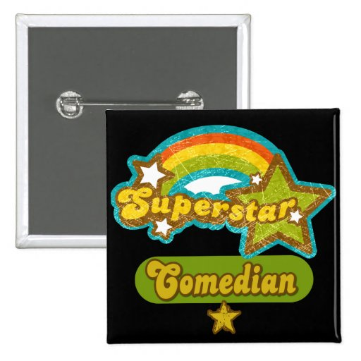 Superstar Comedian 2 Inch Square Button