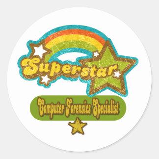 Superstar Computer Forensics Specialist Stickers