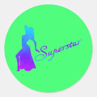 Superstar cool round stickers