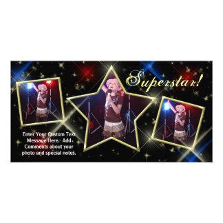 SuperStar Custom Photo Card, Model Pageant Kids... Card