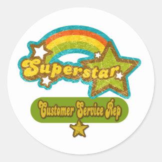 Superstar Customer Service Rep Classic Round Sticker