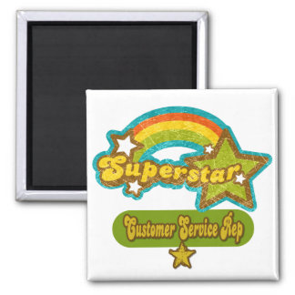 Superstar Customer Service Rep 2 Inch Square Magnet