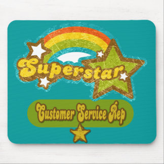 Superstar Customer Service Rep Mouse Pad