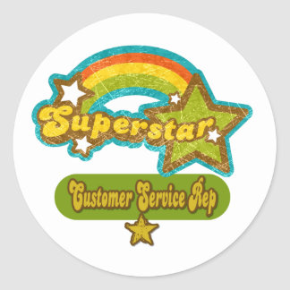Superstar Customer Service Rep Stickers