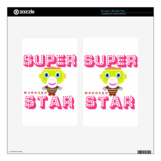 SuperStar-Cute Monkey-Morocko Skin For Kindle Fire