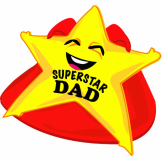 superstar dad funny father's day photo sculpture! standing photo sculpture