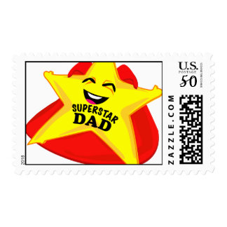 superstar dad humorous father's day postage! postage