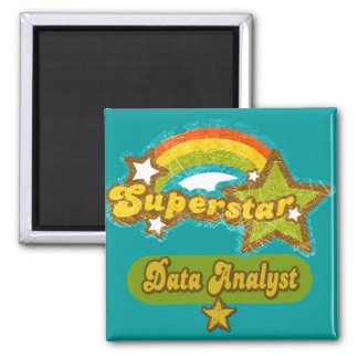 Superstar Data Analyst 2 Inch Square Magnet