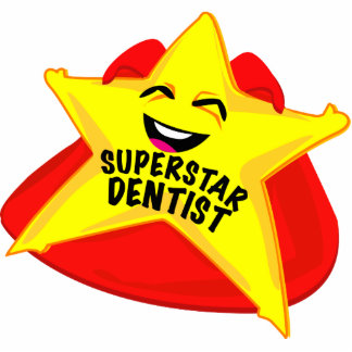 superstar dentist funny photo  sculpture! statuette