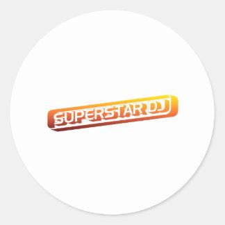 Superstar DJ - Disc Jockey, DJing, Music DJ Classic Round Sticker