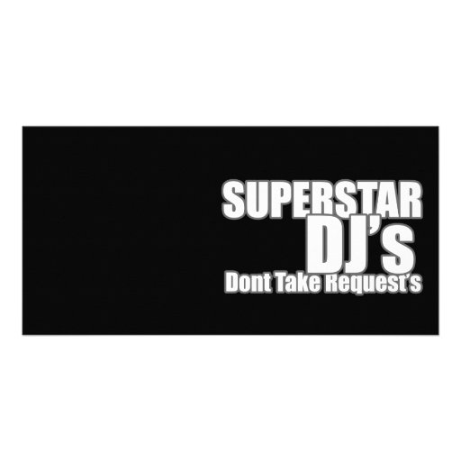Superstar DJ Photo Card