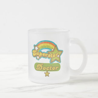 Superstar Doctor Frosted Glass Coffee Mug